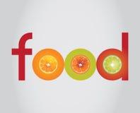 Lebensmittellogo stockfoto