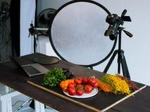 Lebensmittelphotographiefotostudio-Kunstblog Stockbilder