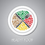 Lebensmittelplatte Stockbilder