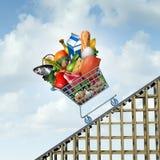 Lebensmittelpreis-Zunahme stock abbildung