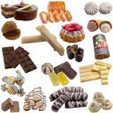 Lebensmittelsammlung Süßigkeiten Stockfoto