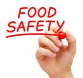 Lebensmittelsicherheit handgeschrieben mit roter Markierung lizenzfreies stockfoto