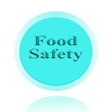Lebensmittelsicherheitsikonen- oder Symbolbildkonzeptdesign mit Geschäft FO Lizenzfreies Stockbild