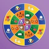 Lebensmittelsymbol auf Ziel Stockfoto