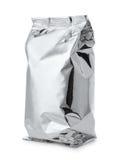 Lebensmitteltasche der silbernen Folie lizenzfreies stockfoto