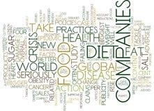 Lebensmittelunternehmen-Ausfallung, zum des Diät-Krisen-Text-Hintergrund-Wort-Wolken-Konzeptes anzupacken vektor abbildung