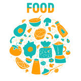 Lebensmittelvektorillustration Stockfotografie