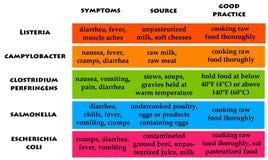 Lebensmittelvergiftung Lizenzfreies Stockfoto