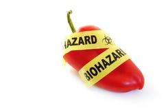 Lebensmittelwarnung Lizenzfreies Stockfoto