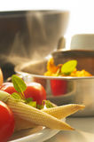 Lebensmittelzubereitung Stockfotografie