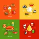 Lebensmittelzusammensetzung flach Lizenzfreie Stockfotografie