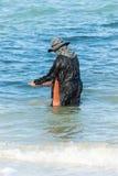 Lebensstil der Dorfbewohner entlang der Küste Lizenzfreie Stockfotos