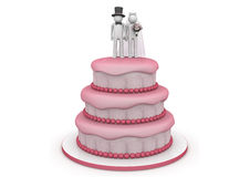 Lebensstil - Hochzeitskuchen Stockbild