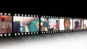 Lebensstil-Montage von jungen Leuten stock video
