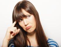 Lebensstil und Leutekonzept: Deprimierte, traurige Frau Stockbilder