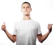 Lebensstil und Leutekonzept: zufälliger junger Mann im Hemd mit BO Lizenzfreie Stockbilder