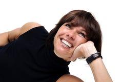 LebensstilGeschäftsfrauen über Weiß Lizenzfreie Stockbilder