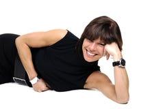 LebensstilGeschäftsfrauen über Weiß Lizenzfreie Stockfotos