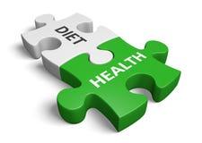 Lebensstilplanungskonzept für das Halten einer kontrollierten Balance zwischen Diät und Gesundheit, Wiedergabe 3D Stockbild