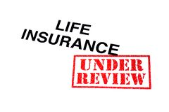 Lebensversicherung in Überprüfung lizenzfreie stockbilder