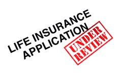 Lebensversicherungs-Anwendung lizenzfreie stockfotografie