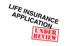 Lebensversicherungs-Anwendung lizenzfreie stockbilder