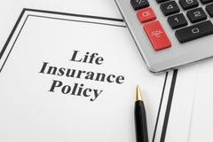 Lebensversicherungspolice Stockfoto
