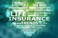 Lebensversicherungstendenzen Lizenzfreies Stockfoto