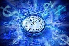 Lebenszeit der Zeit und des Geldes Stockfotos