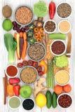 Leber Detox-Diät-Biokost lizenzfreies stockfoto