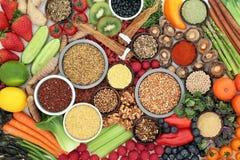 Leber Detox-Supernahrungsmittelsammlung stockbild