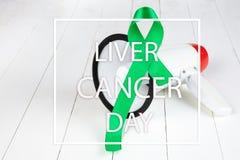 Leber-Krebs und Hepatitis B - HVB-Bewusstseins-Monatsband, Emerald Green- oder Jadeband stockfoto
