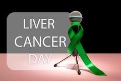 Leber-Krebs und Hepatitis B - HVB-Bewusstseins-Monatsband, Emerald Green- oder Jadeband lizenzfreies stockfoto