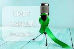 Leber-Krebs und Hepatitis B - HVB-Bewusstseins-Monatsband, Emerald Green- oder Jadeband stockfotografie