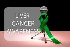 Leber-Krebs und Hepatitis B - HVB-Bewusstseins-Monatsband, Emerald Green- oder Jadeband stockbilder