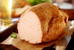 Leberkaese, a German meat loaf Stock Photos