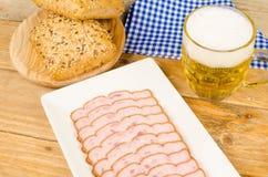 Leberkaese snack Stock Images