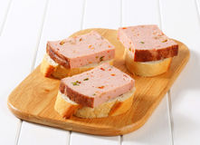 Leberkase sandwiches Royalty Free Stock Image
