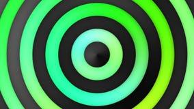 Lebhafte grüne Steigungs-Streifen-und Kreis-Mehrfarbenschleife stock video footage