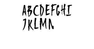 Lebhafte Hand gezeichnetes Versalienalphabet stock video
