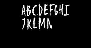Lebhafte Hand gezeichnetes Versalienalphabet mit Alpha Channel stock video footage