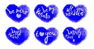 Lebhafte Herzen eingestellt mit den Valentinsgrüßen, die auf Chromakey beschriften stock video footage