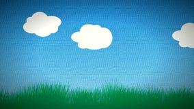 Lebhafte Karikatur-Wolken stock abbildung