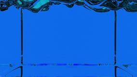 Lebhafte transparente blaue Farbe, die herauf ganzen Schirm gießt und füllt Alphakanal ist enthaltener Gebrauch luma Lech 3d über stock abbildung