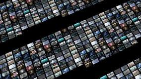 Lebhafte Videowand, erweiternd mit grünem Schirm 4K lizenzfreie abbildung