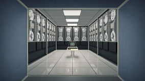 Lebhafter alter Computer in einem Weinleseraum lizenzfreie abbildung
