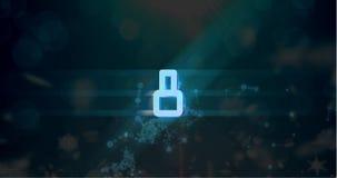 Lebhafter Countdown Video-4k lizenzfreie abbildung