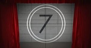 Lebhafter Countdown Video-4k stock abbildung