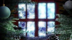 Lebhafter Feiertags-Weihnachtshintergrund stock video