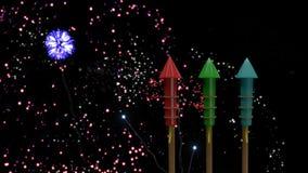 Lebhafter Feuerwerkscracker stock abbildung